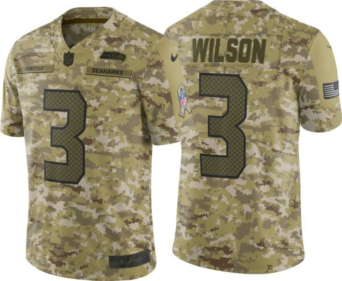Nike Men s Salute to Service Seattle Seahawks Russell Wilson  3 Camouflage Limited  Jersey. noImageFound. Previous e03e4f146