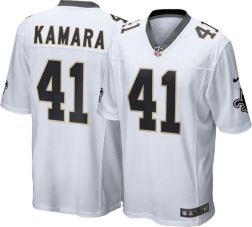 Nice Nike Men's Away Game Jersey New Orleans Saints Alvin Kamara #41
