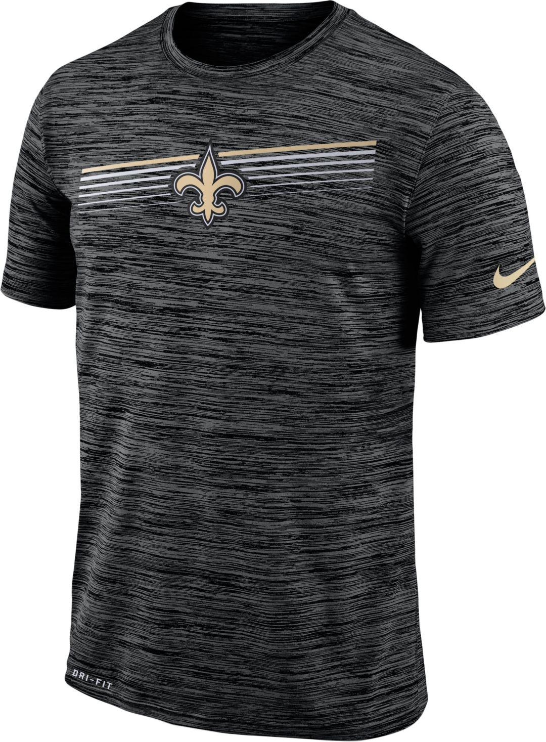 ebf38221 Nike Men's New Orleans Saints Sideline Legend Velocity Black T-Shirt