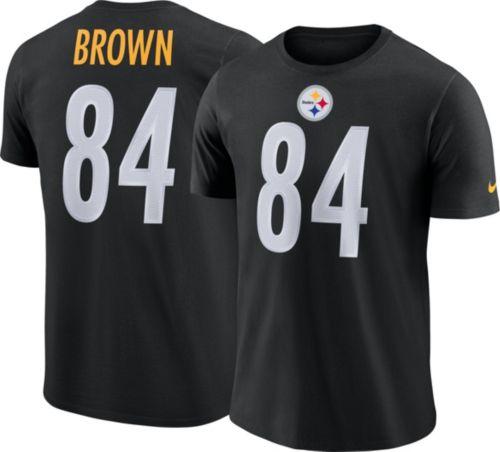 1b3668e1911 Nike Men s Pittsburgh Steelers Antonio Brown  84 Legend Black T-Shirt.  noImageFound. Previous