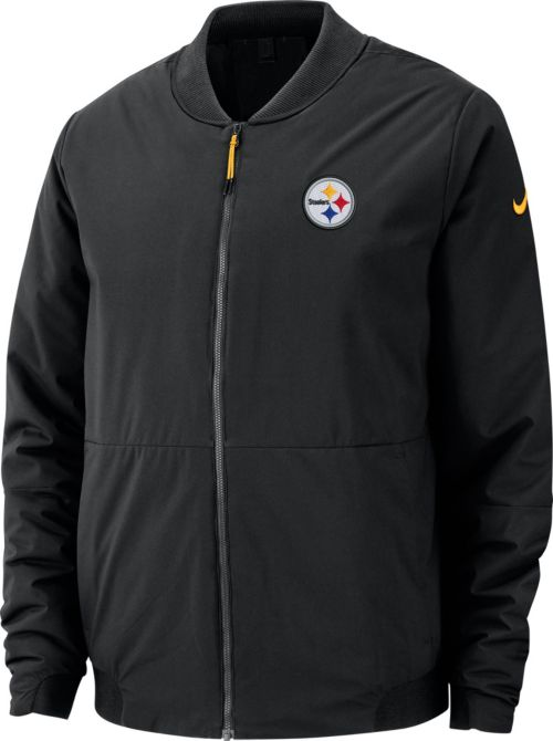 Nike Men s Pittsburgh Steelers Sideline Shield Black Bomber Jacket.  noImageFound. Previous 9bb1ce1b0