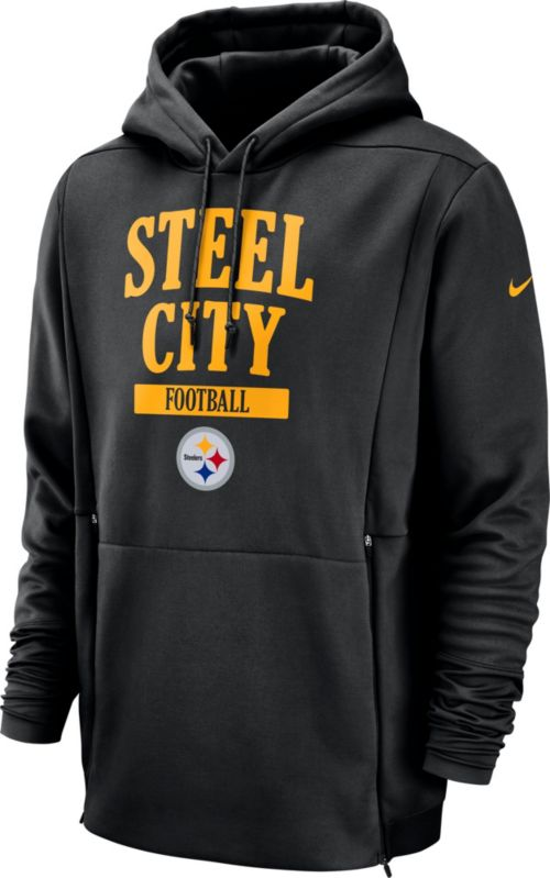 0defd6e5e Nike Men s Pittsburgh Steelers Sideline Therma-FIT Local Black Performance  Hoodie. noImageFound. Previous