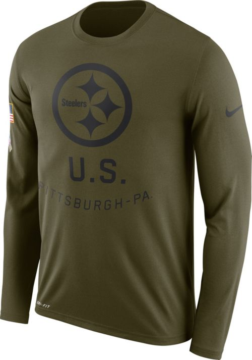 competitive price eaf8c 63409 Nike Men's Salute to Service Pittsburgh Steelers Legend Performance Long  Sleeve Shirt