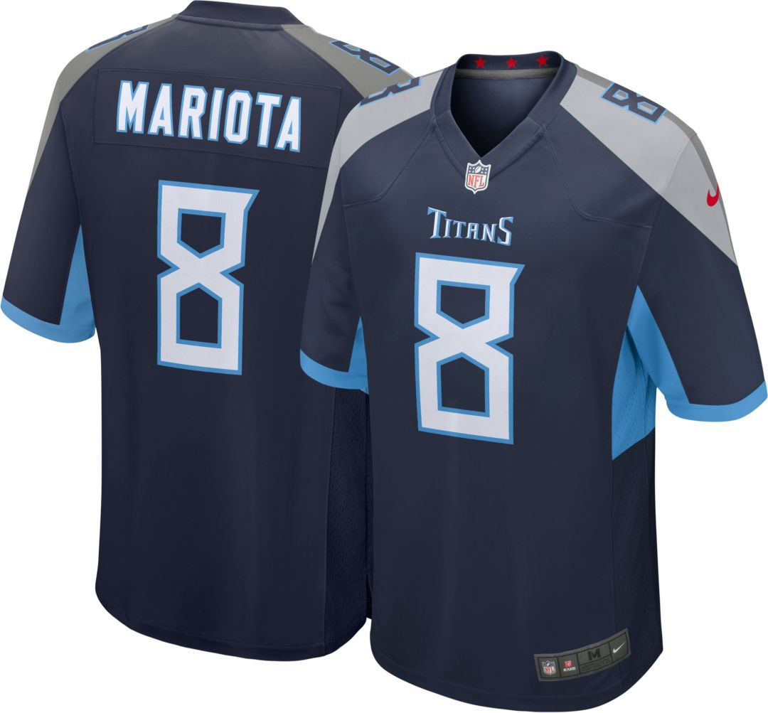 Wholesale Nike Men's Home Game Jersey Tennessee Titans Marcus Mariota #8