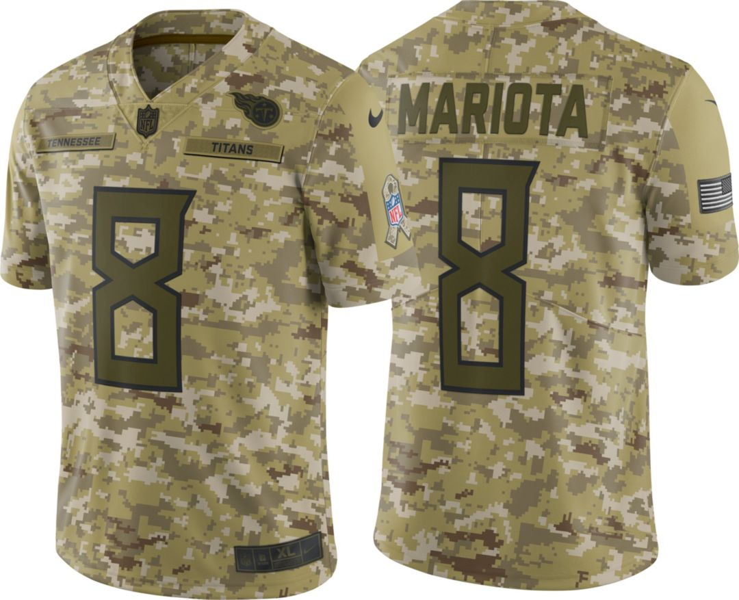 New Nike Men's Salute to Service Tennessee Titans Marcus Mariota #8  for cheap