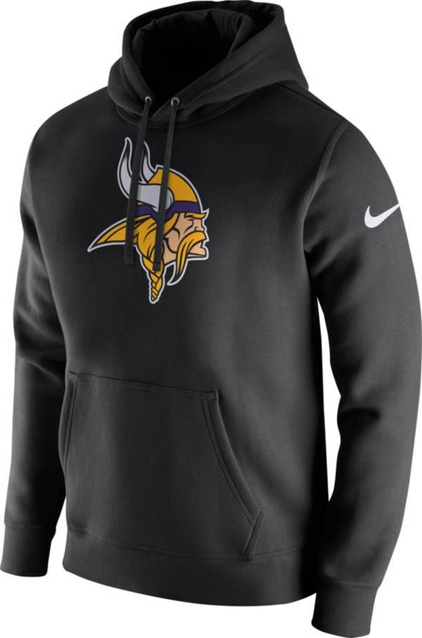 Nike Men's Minnesota Vikings Logo Club Black Hoodie product image