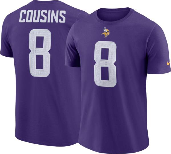 Nike Men's Minnesota Vikings Kirk Cousins #8 Pride Logo Purple T-Shirt product image
