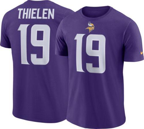 Nike Men s Minnesota Vikings Adam Thielen  19 Pride Logo Purple T-Shirt e7d1dedde