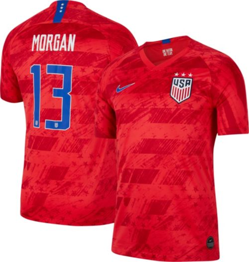 e18b2945b Nike Men s 2019 FIFA Women s World Cup USA Soccer Alex Morgan  13 Breathe Stadium  Away Replica Jersey. noImageFound. Previous