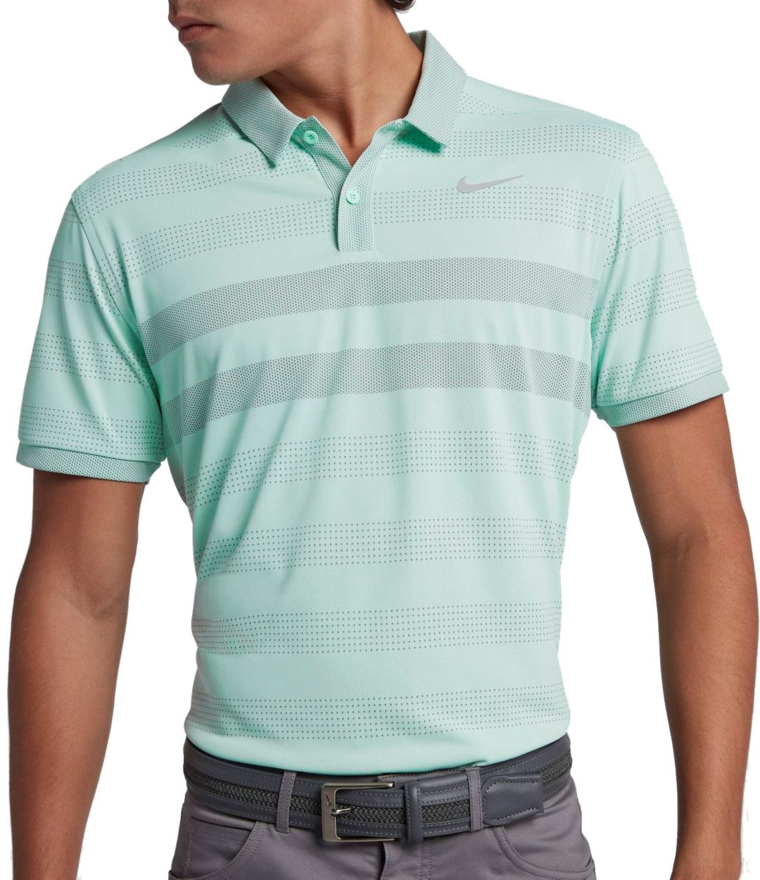 ba33bb471 Nike Men's TechKnit Stripe Golf Polo. noImageFound. Previous