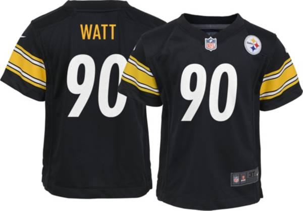 Nike Toddler Pittsburgh Steelers T.J. Watt #90 Black Game Jersey product image