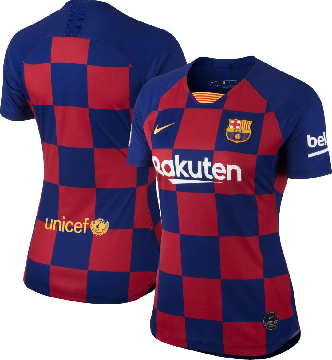 caed836f Nike Women's FC Barcelona '19 Breathe Stadium Home Replica Jersey.  noImageFound. Previous. 1. 2. 3
