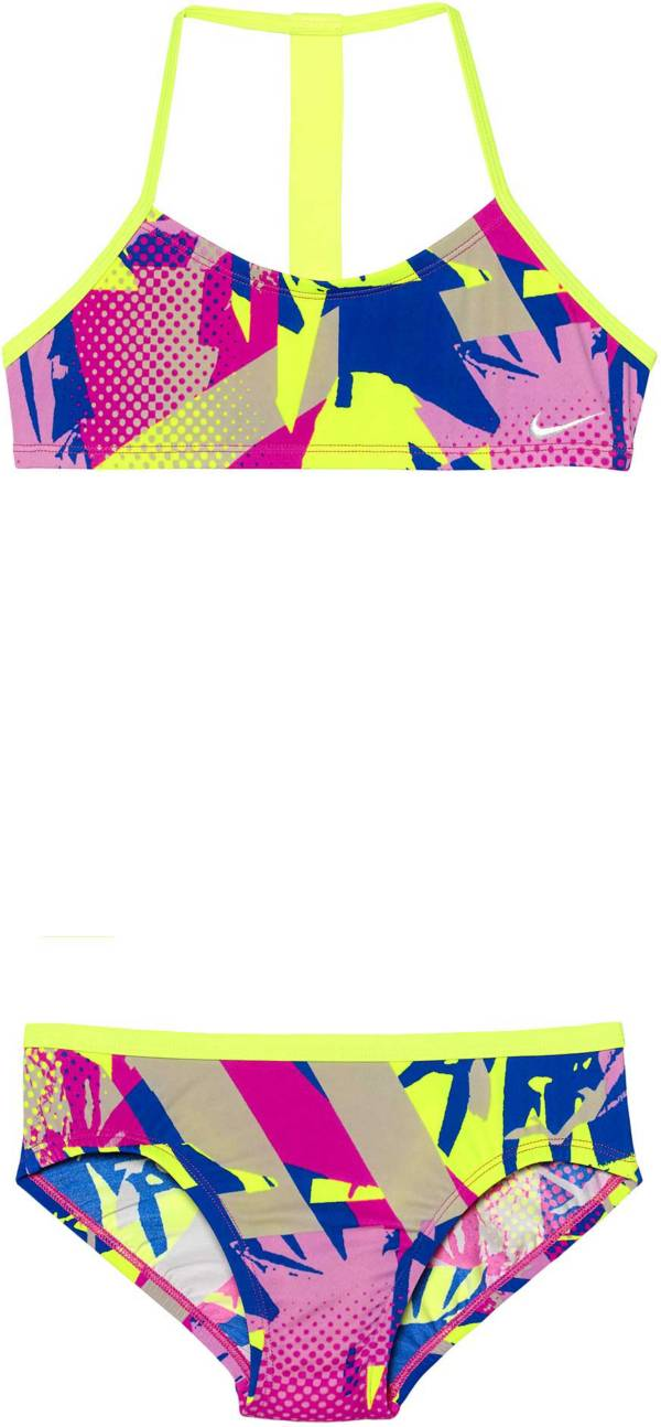 Nike Girls' Drift Graffiti T-Back Top Brief Set product image