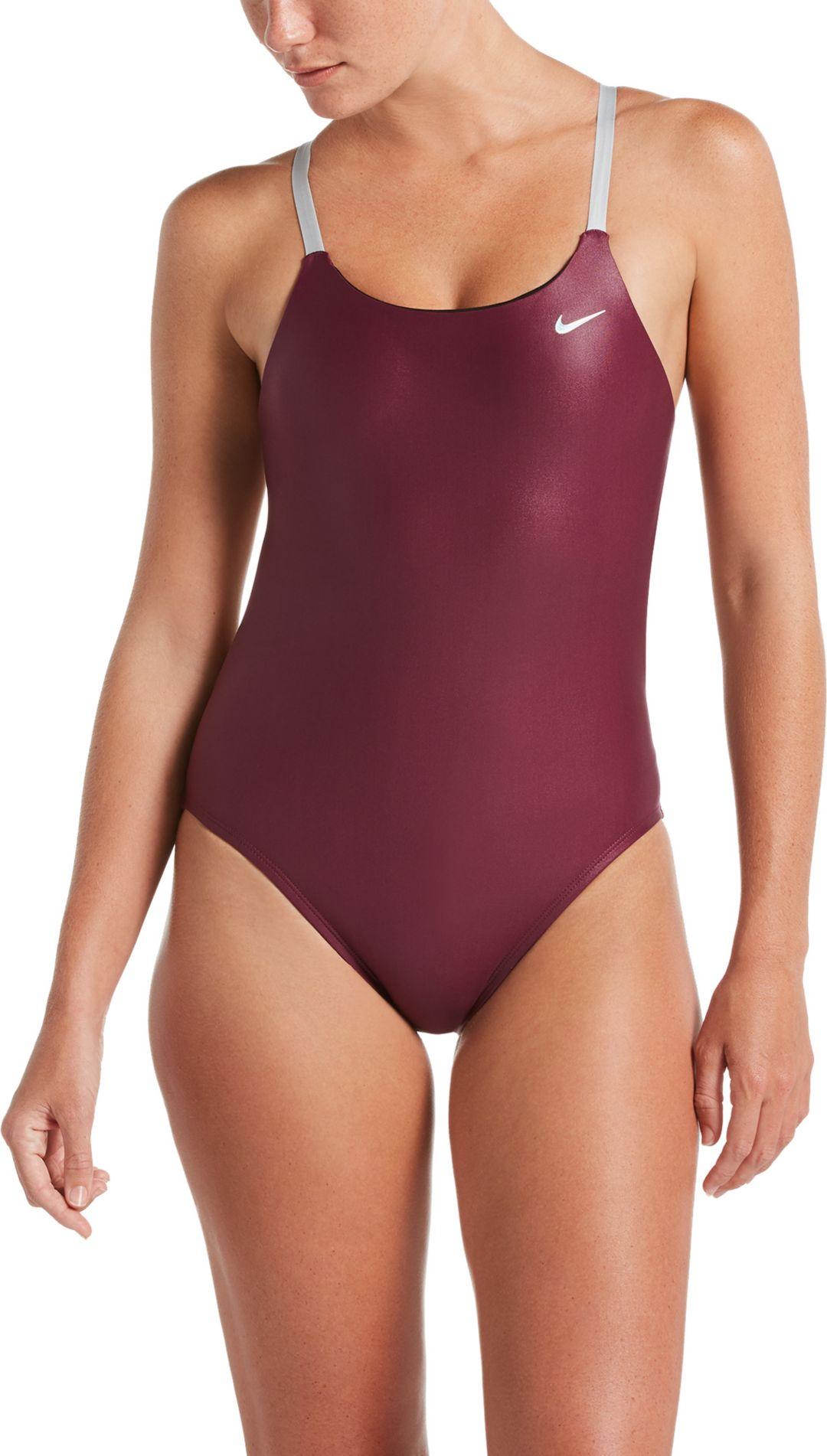 40177da57b4ea Nike Women's Flash Bonded Cut-Out One Piece Swimsuit
