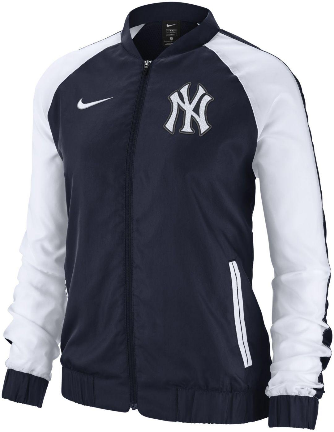 a6c2a6c8a Nike Women's New York Yankees Dri-FIT Full-Zip Varsity Jacket ...