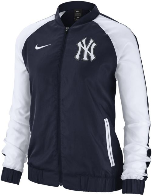 c1512af577f0 Nike Women s New York Yankees Dri-FIT Full-Zip Varsity Jacket ...