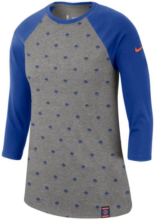 Nike Women s New York Knicks Dri-FIT All-Over Print Three-Quarter Sleeve  Shirt. noImageFound. Previous. 1. 2 4047bfce8