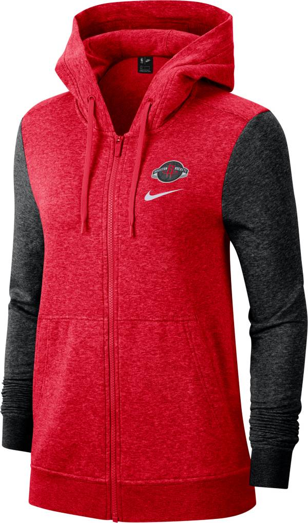 Nike Women's Houston Rockets Raglan Full-Zip Hoodie product image