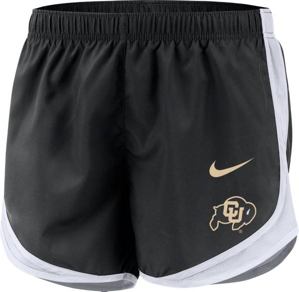Nike Women's Colorado Buffaloes Dri-FIT Tempo Black Shorts product image