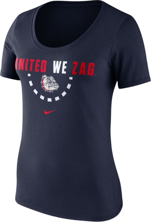 daa483a88203 Nike Women s Gonzaga Bulldogs Blue Basketball Mantra T-Shirt. noImageFound.  Previous