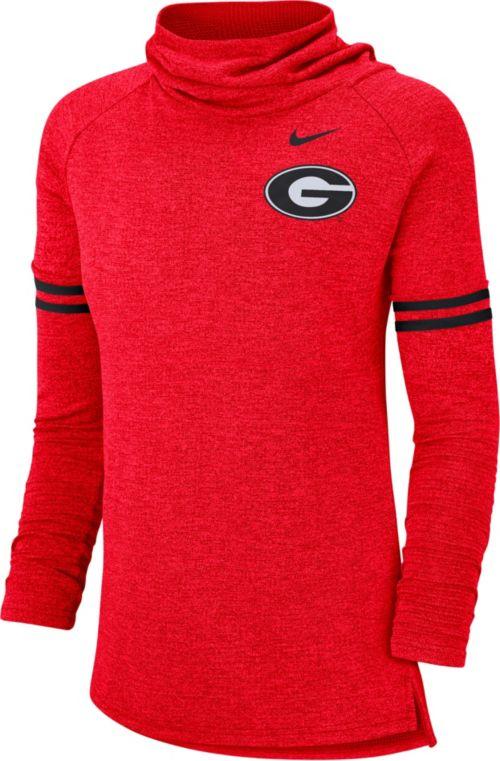 884364d1 Nike Women's Georgia Bulldogs Red Funnel Neck Long Sleeve Top ...