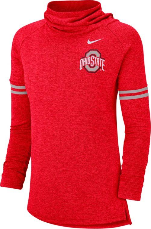 542d5abf91b1 Nike Women s Ohio State Buckeyes Scarlet Funnel Neck Long Sleeve Top ...