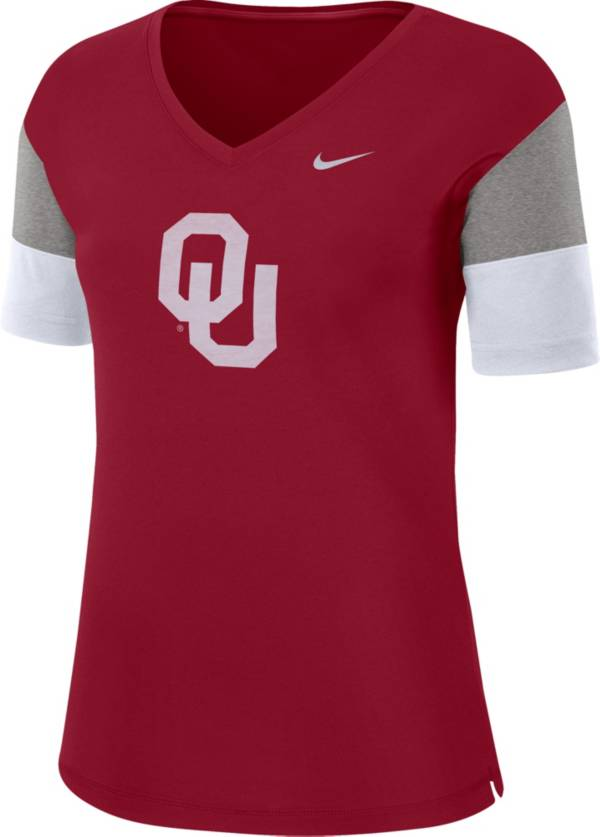 Nike Women's Oklahoma Sooners Crimson Breathe V-Neck T-Shirt product image