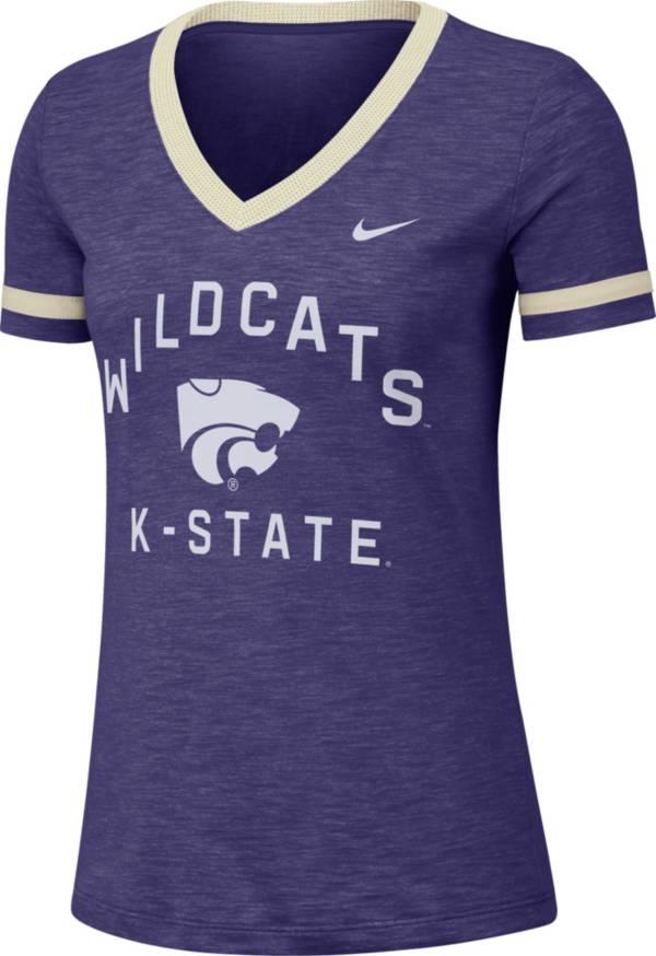 Nike Women's Kansas State Wildcats Purple Slub Fan V-Neck T-Shirt product image