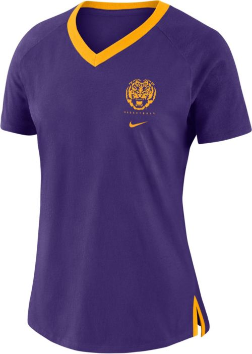 2978329d Nike Women's LSU Tigers Purple Tri-Blend Basketball Fan T-Shirt.  noImageFound. Previous