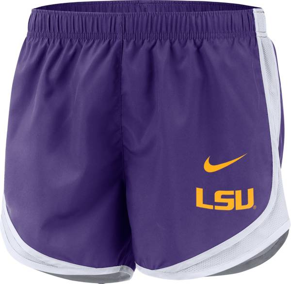 Nike Women's LSU Tigers Purple Dri-FIT Tempo Shorts product image