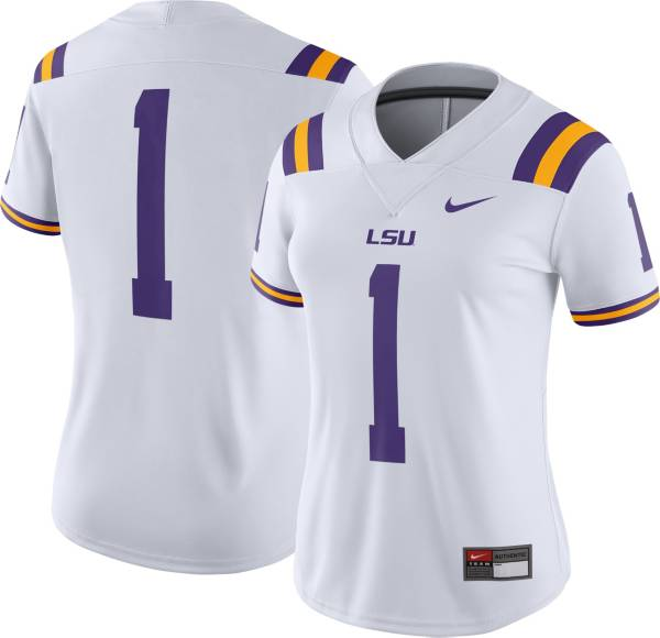 Nike Women's LSU Tigers #1 Dri-FIT Game Football White Jersey product image
