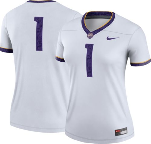 407e3641a3b Nike Women s LSU Tigers  1 Legend Football White Jersey. noImageFound.  Previous