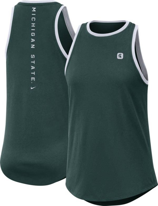 Nike Women's Michigan State Spartans Green High Neck Dri-FIT Tank Top product image