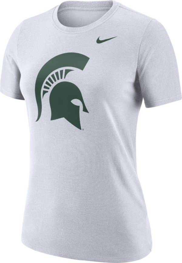 Nike Women's Michigan State Spartans Dri-FIT Logo Crew White T-Shirt product image