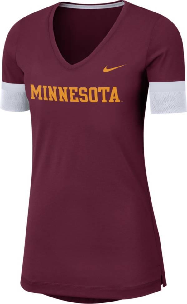 Nike Women's Minnesota Golden Gophers Maroon Dri-FIT Fan V-Neck T-Shirt product image
