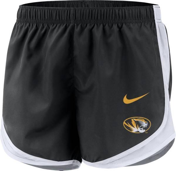 Nike Women's Missouri Tigers Dri-FIT Tempo Black Shorts product image