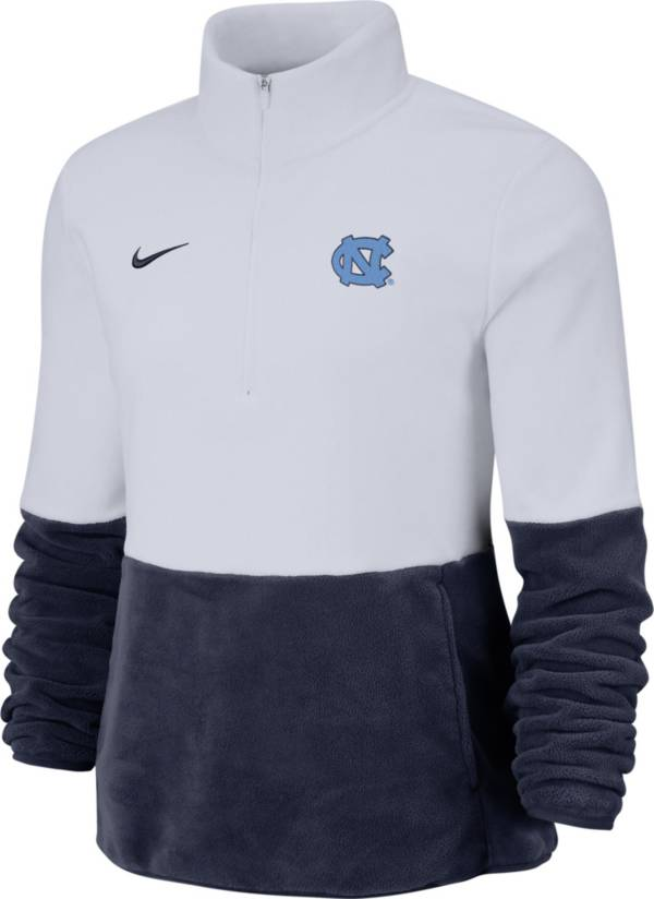 Nike Women's North Carolina Tar Heels Cozy Therma White Half-Zip Fleece product image