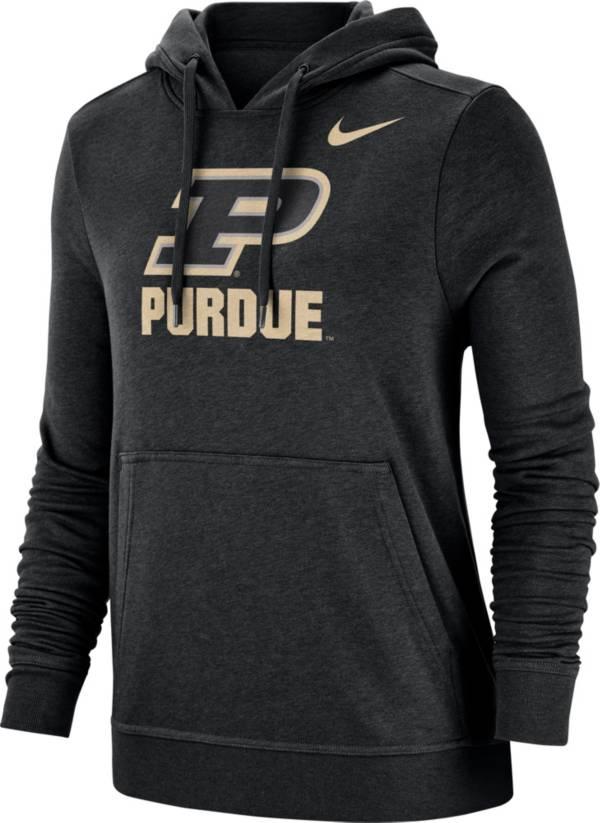 Nike Women's Purdue Boilermakers Club Fleece Pullover Black Hoodie product image