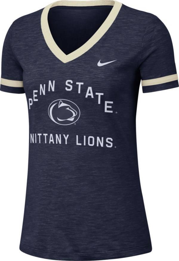 Nike Women's Penn State Nittany Lions Blue Slub Fan V-Neck T-Shirt product image
