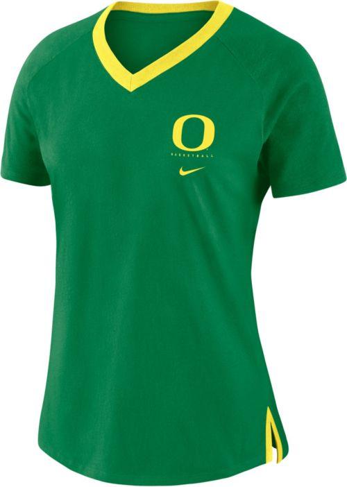 e9aa24a6 Nike Women's Oregon Ducks Green Tri-Blend Basketball Fan T-Shirt.  noImageFound. Previous