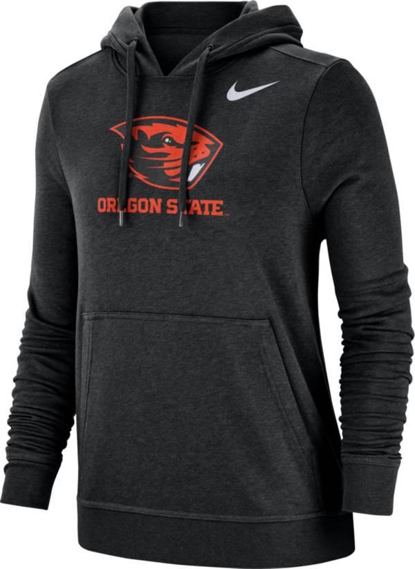 Nike Women's Oregon State Beavers Club Fleece Pullover Black Hoodie product image