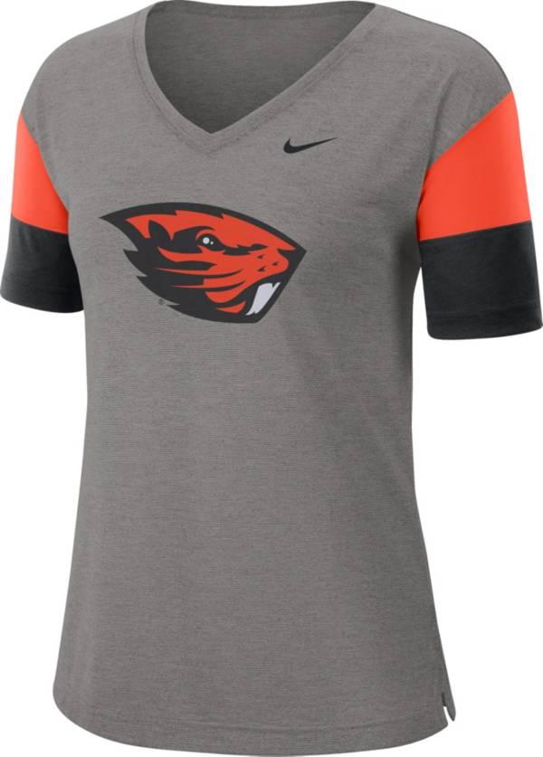 Nike Women's Oregon State Beavers Grey Breathe V-Neck T-Shirt product image