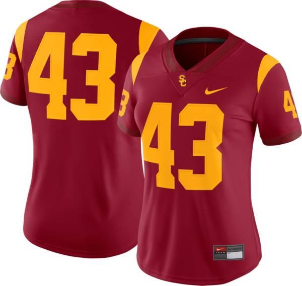 Nike Women's USC Trojans #43 Cardinal Dri-FIT Game Football Jersey product image