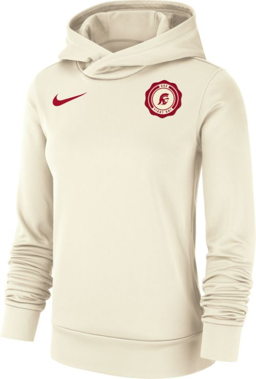 Nike Women s USC Trojans Therma-FIT Rival White Pullover Hoodie.  noImageFound. Previous d5926db962