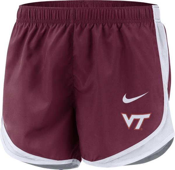 Nike Women's Virginia Tech Hokies Maroon Dri-FIT Tempo Shorts product image
