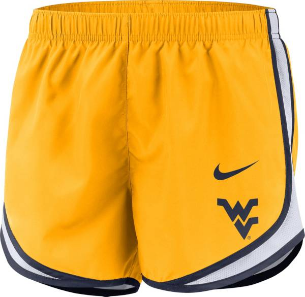 Nike Women's West Virginia Mountaineers Gold Dri-FIT Tempo Shorts product image