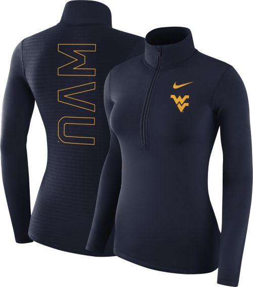 10b71e946 Nike Women s West Virginia Mountaineers Blue Dri-FIT Half-Zip Shirt.  noImageFound. Previous