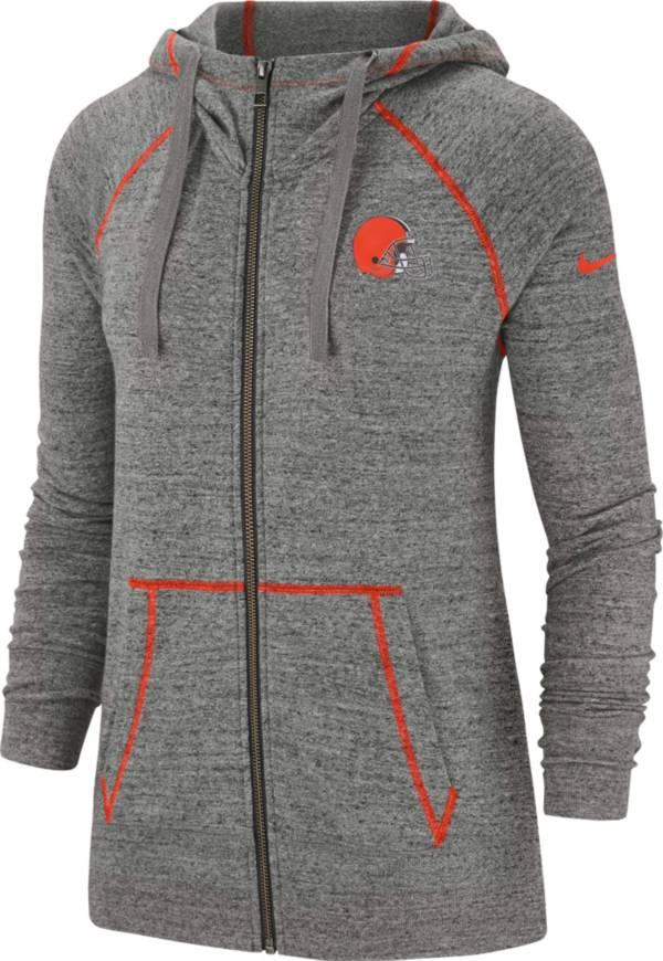 Nike Women's Cleveland Browns Vintage Grey Full-Zip Hoodie product image