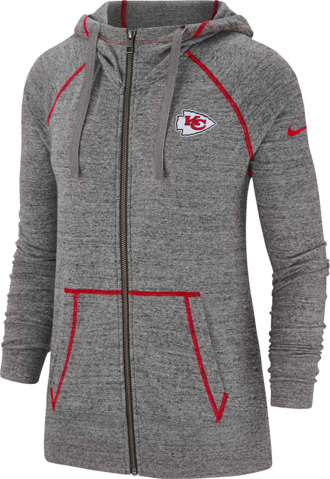 082469fd Nike Women's Kansas City Chiefs Vintage Grey Full-Zip Hoodie