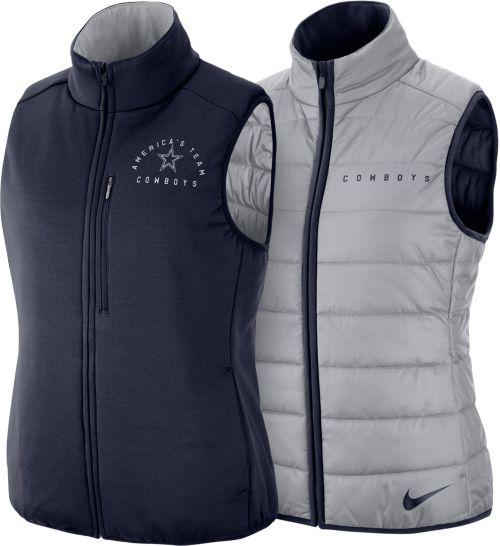 Nike Women s Dallas Cowboys Sideline Reversible Navy Shield Vest 2.0.  noImageFound. Previous a52b86ced